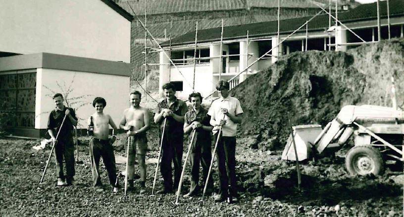 Die Firma Frank beim Bau des Altenheims in Staufen
