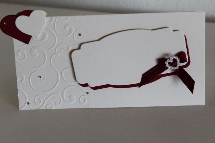 TK 29 Gruppentischkarte Größe 6,5x13,5 cm.