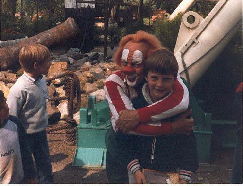 Remon van Dijk met Bassie in Drievliet in 1985.