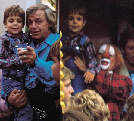 Martijn Passchier met Bassie en Adriaan in 1983.