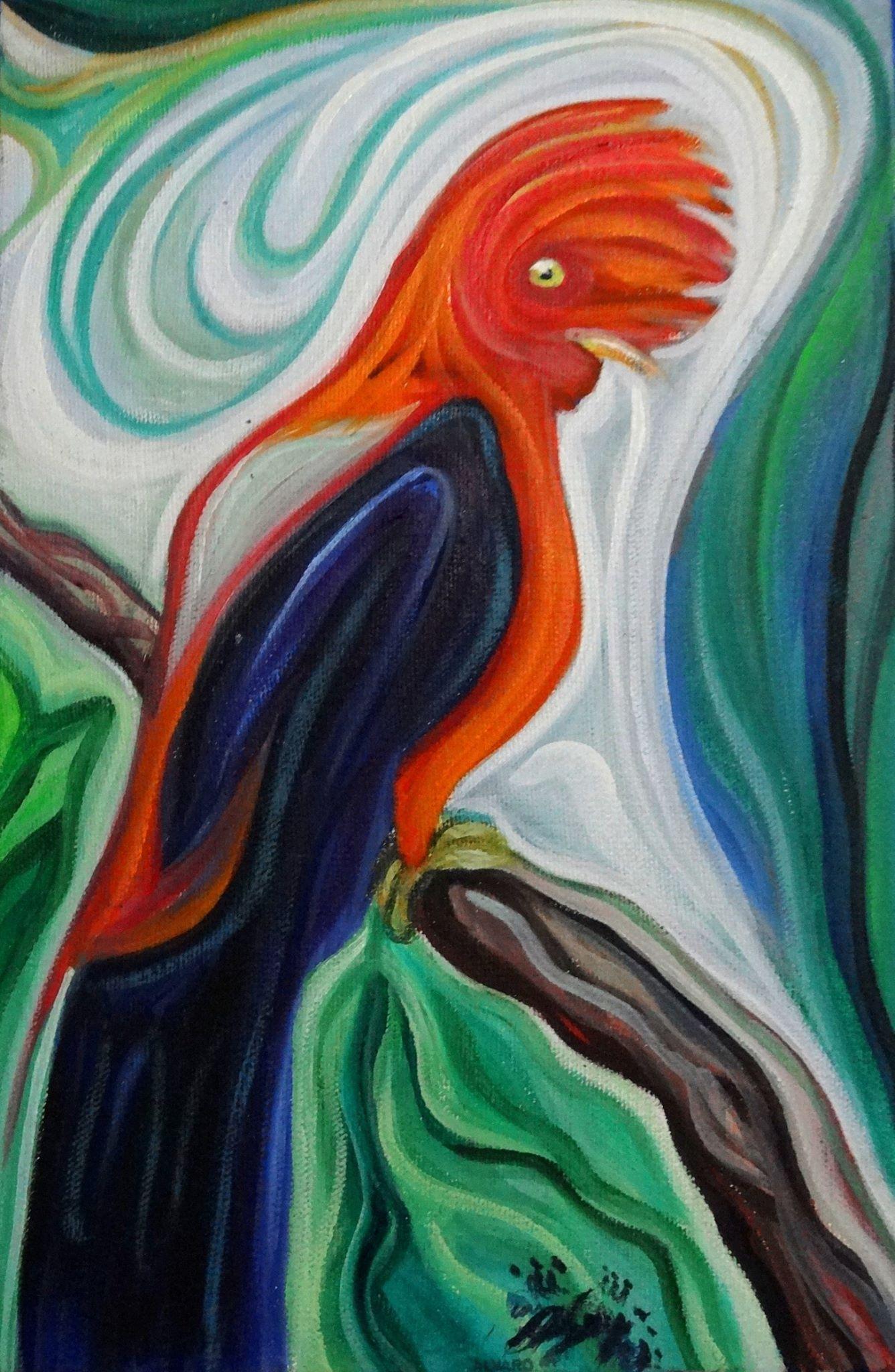 Gallito de las rocas / Óleo sobre lienzo / 30 x 20 cm / 2015