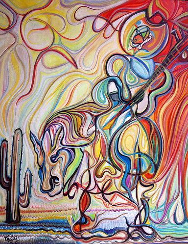 El trovador / Óleo sobre lienzo / 100 x 120 cm  /2008 Vendido