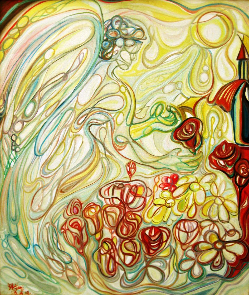 Ángel jardinero / Óleo sobre lienzo / 100 x 120 cm  /2009