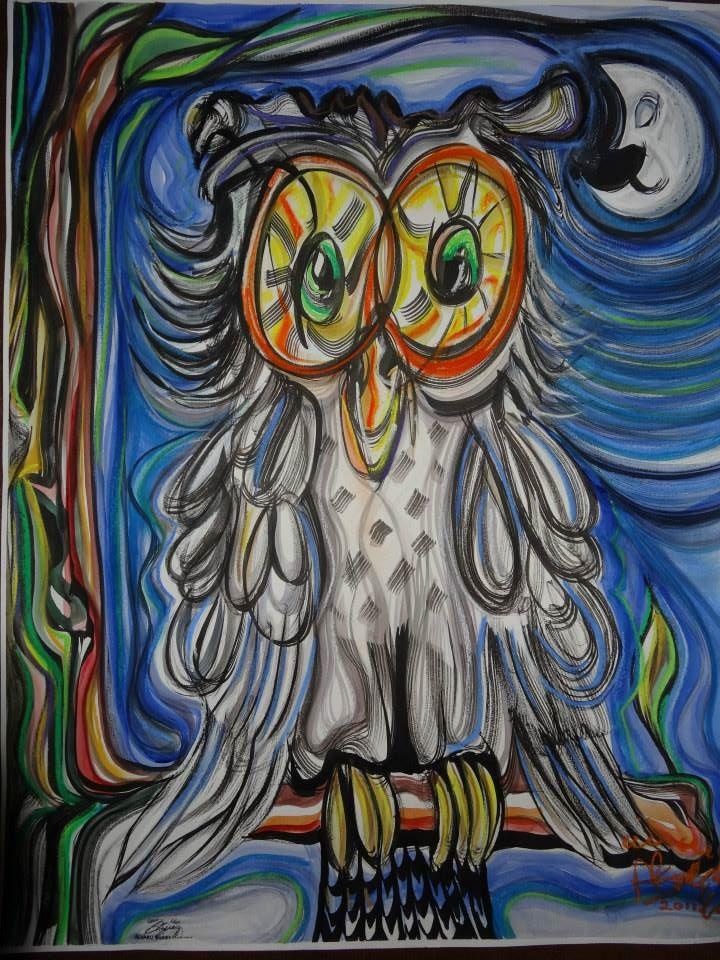 Búho/ Óleo sobre lienzo / 80 x 60 cm / 2008