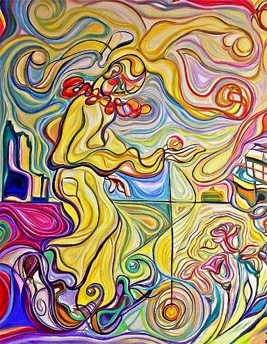 Yo y mi yo-yo / Óleo sobre lienzo / 120 x 100 cm / 2008
