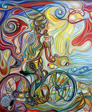 Autorretrato en la Costa Verde / Óleo sobre lienzo / 100 x 120 cm  /2009