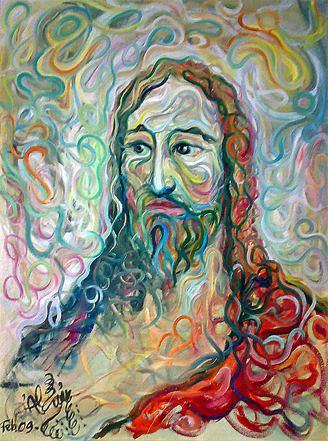 Antes de Dios, hombre/ Óleo sobre lienzo / 80 x 60 cm / 2009