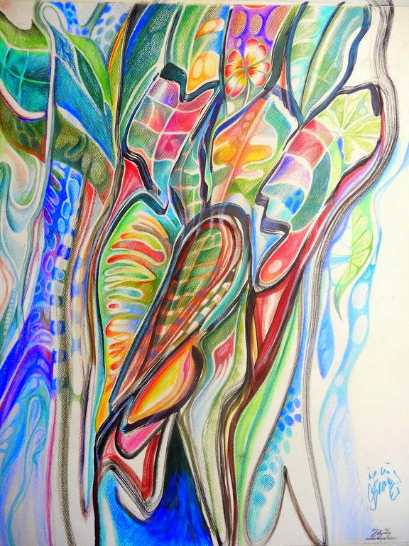 Tropical / Técnica mixta sobre cartulina / 65 x 50 cm / 2014 / Vendido