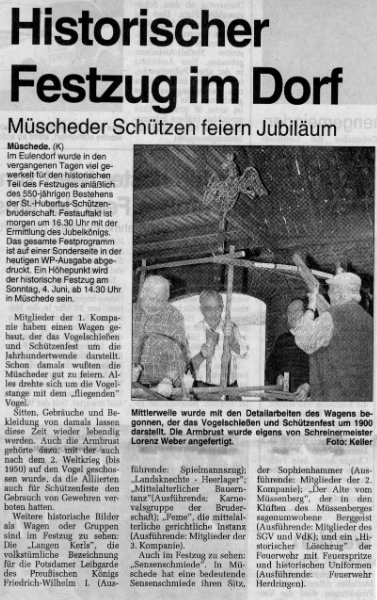 Westfalenpost 02.06.2000