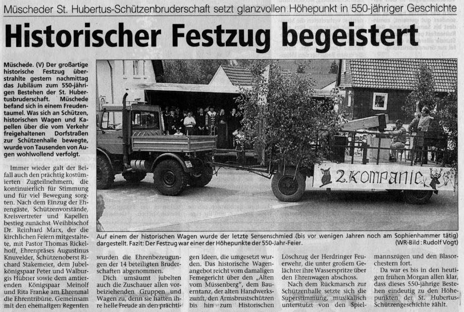 Westfalenpost 05.06.2000
