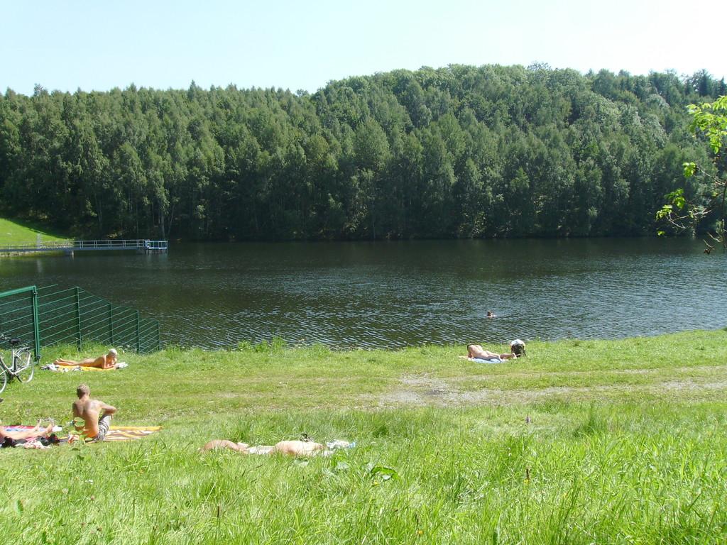 Natur pur: schöner Badesee