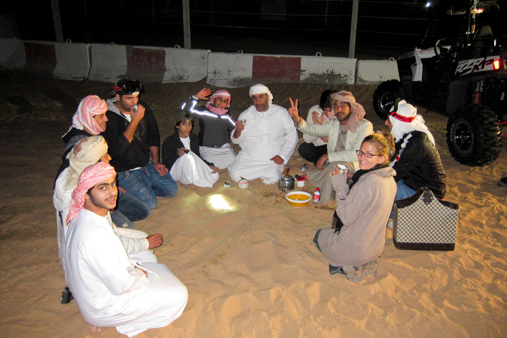 Teepause in der Wüste