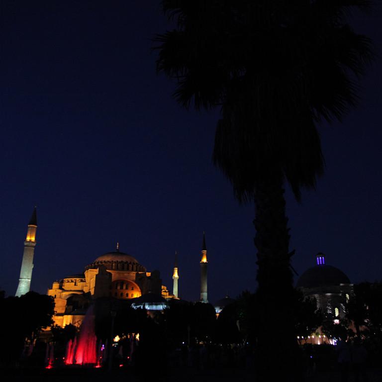 Die berühmte Hagia Sophia...