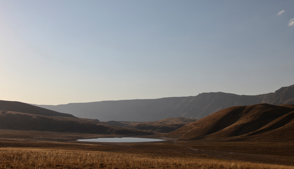 Im Vulkankrater des kleinen Nemrut...