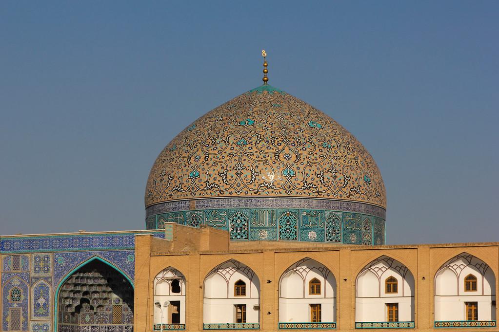 die Lotfallah-Moschee...