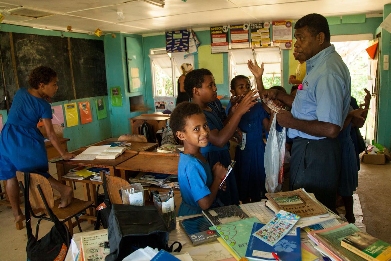und wir besuchen die Inselschule
