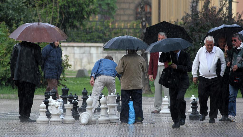 ...sogar bei Regen...