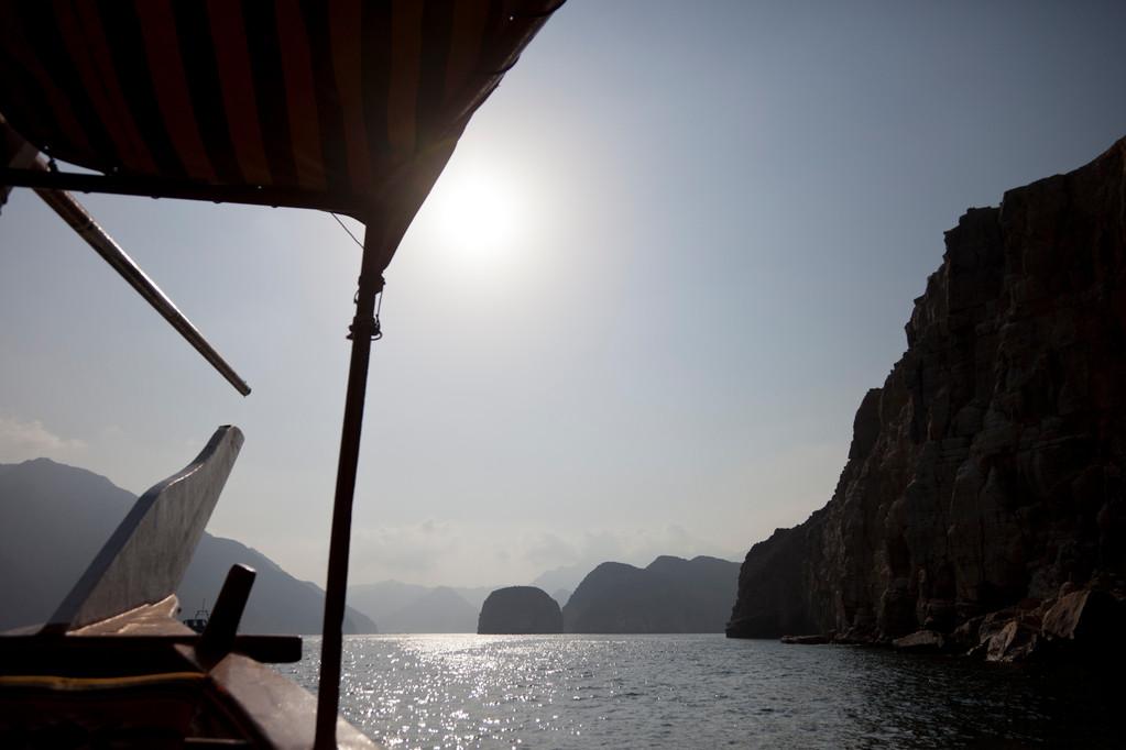 Dhaufahrt durch die Fjorde
