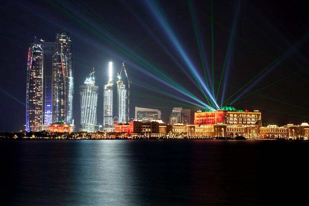 Skyline mit dem Emirates Palace Hotel