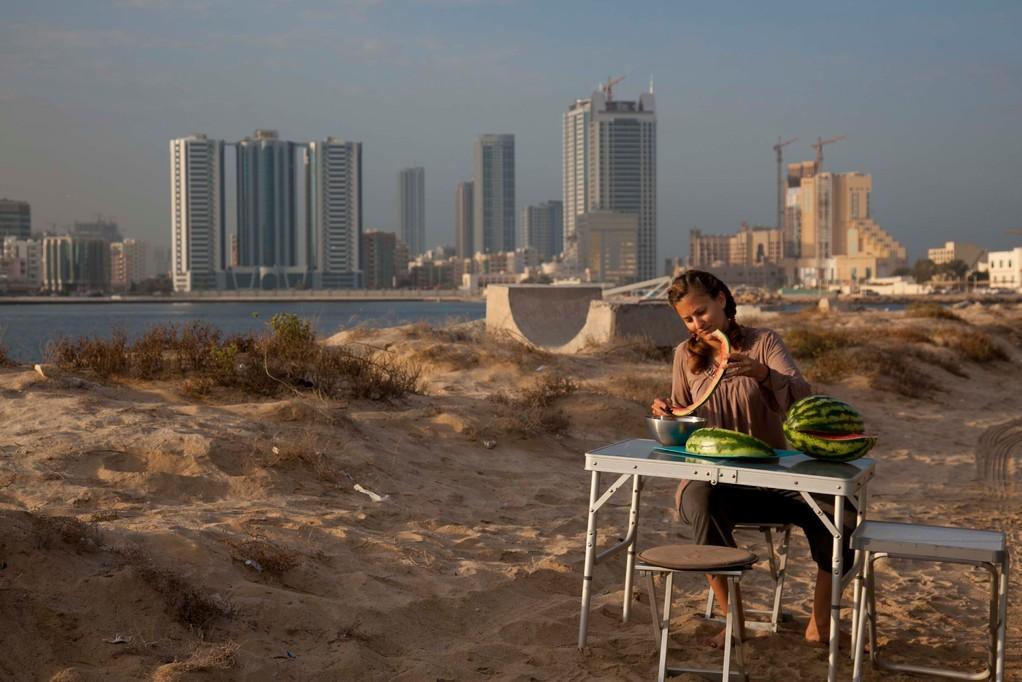 Erstes Frühstück in den Emirates