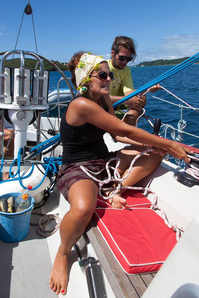 segeln ist harte Arbeit!