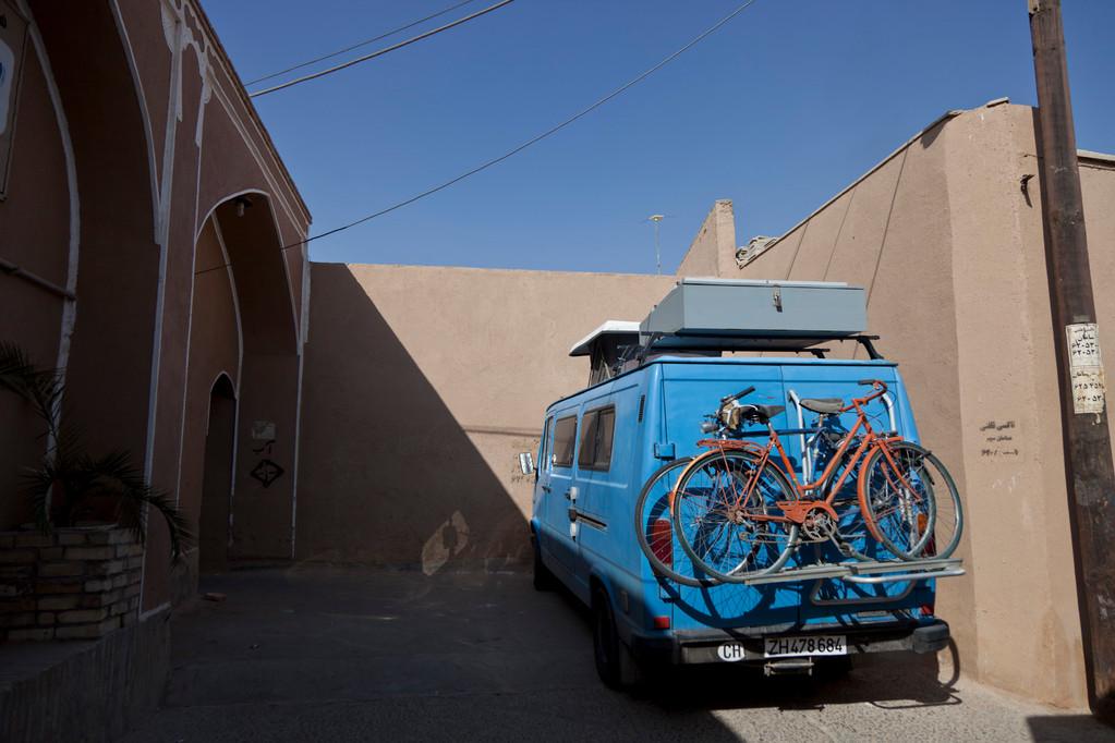 unser Schlaplatz in Yazd