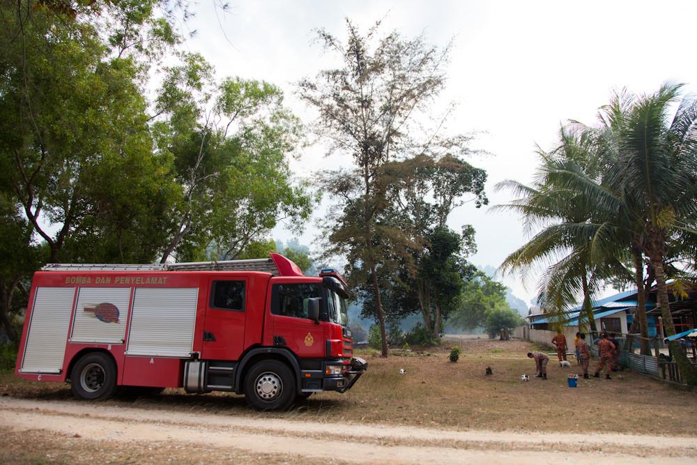 die Feuerwehr ist mässig motiviert...