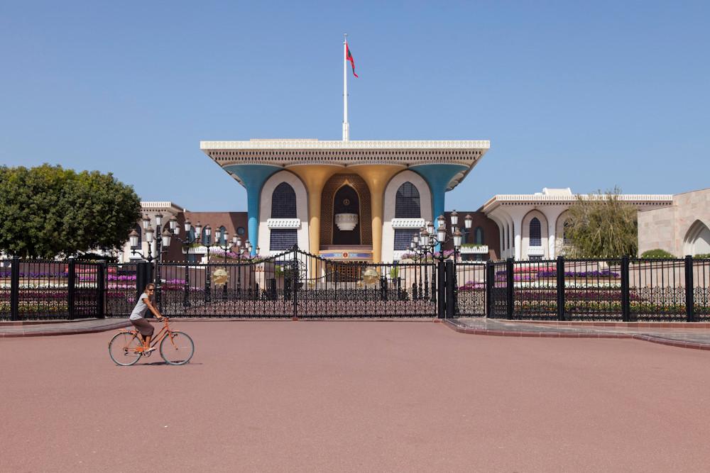 vor dem Sultanspalast