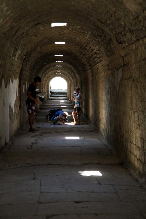 In den Ruinen von Pergamon.