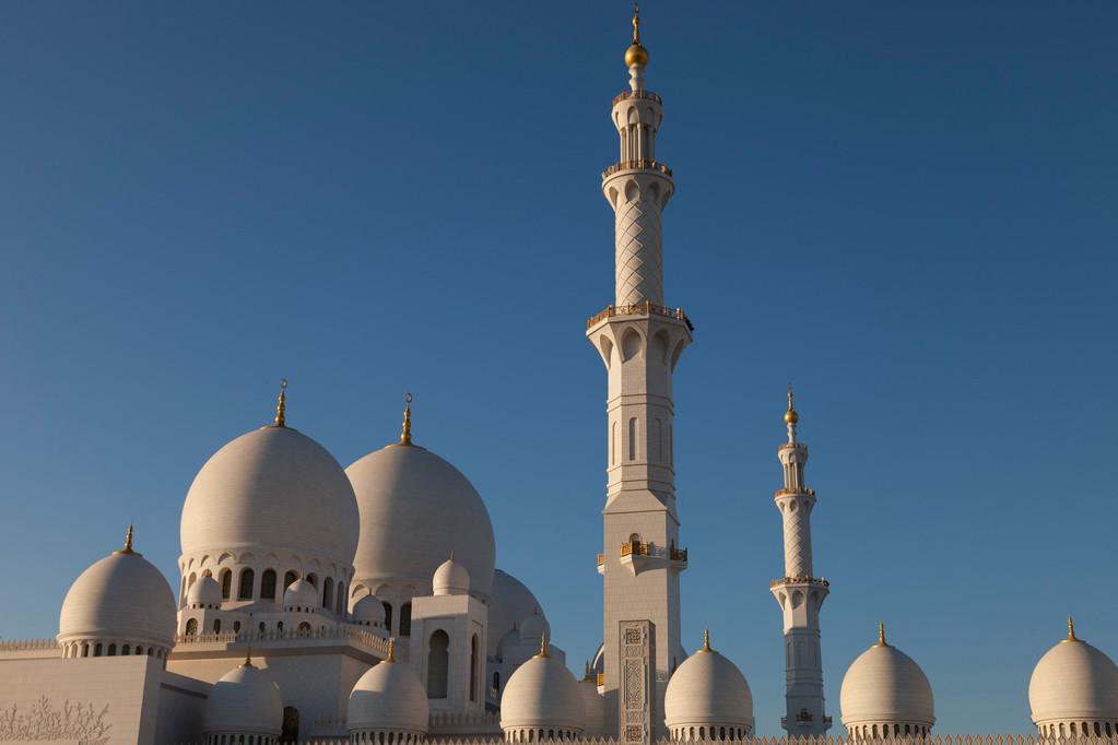 die grosse Sheik Zayed Moschee...