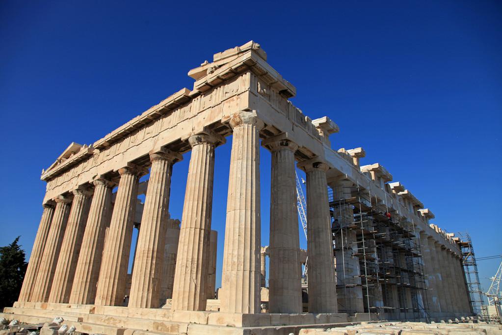 Der Parthenon wird gerade restauriert.