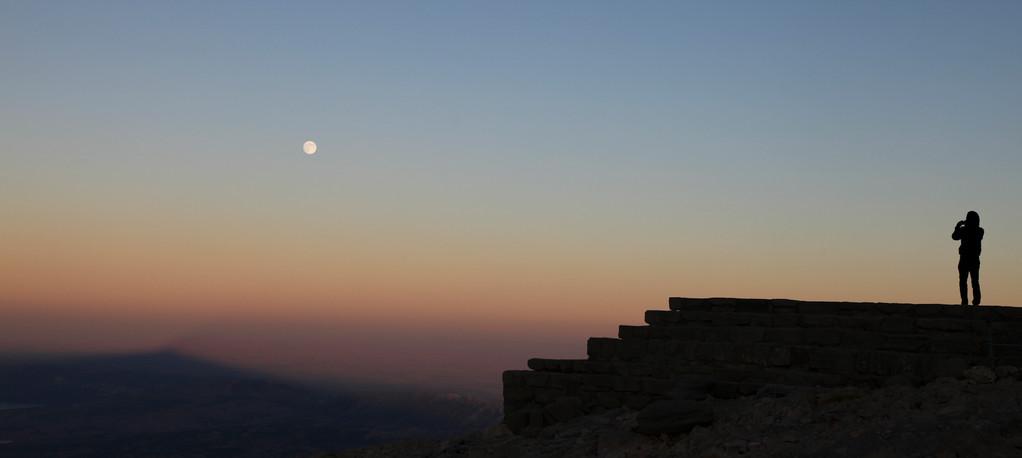 Bei Sonnenuntergang...