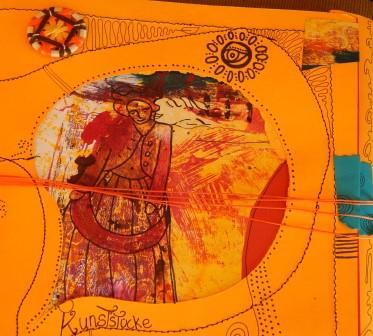Tagebuch (gestaltet von Barbara Krisper) mit passendem Zwirnknopf