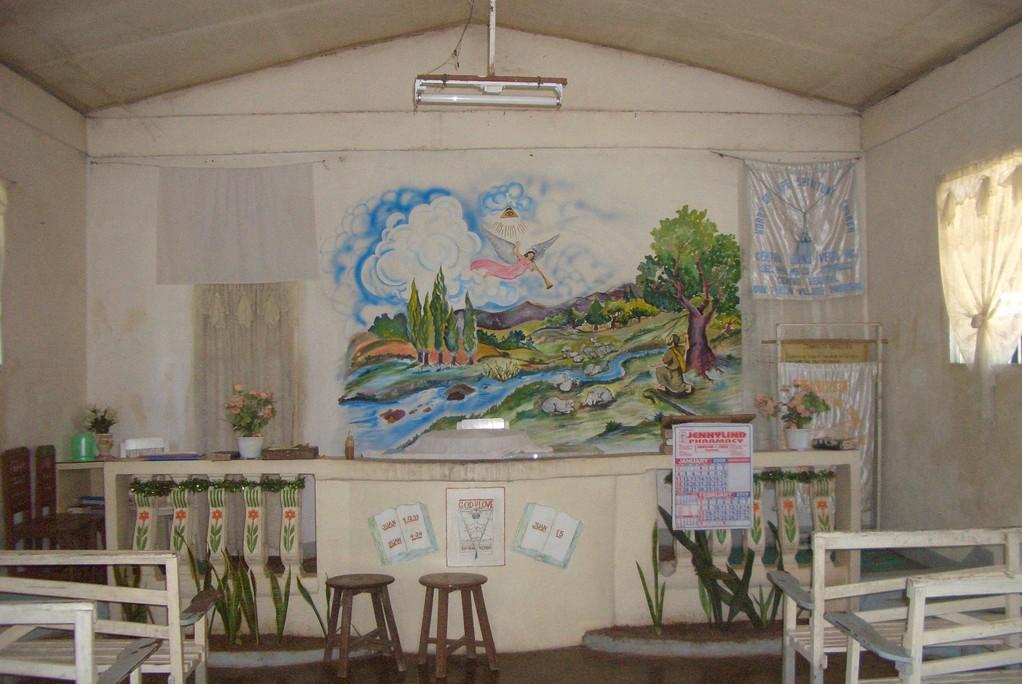 Das Innere der kleinen Kapelle.