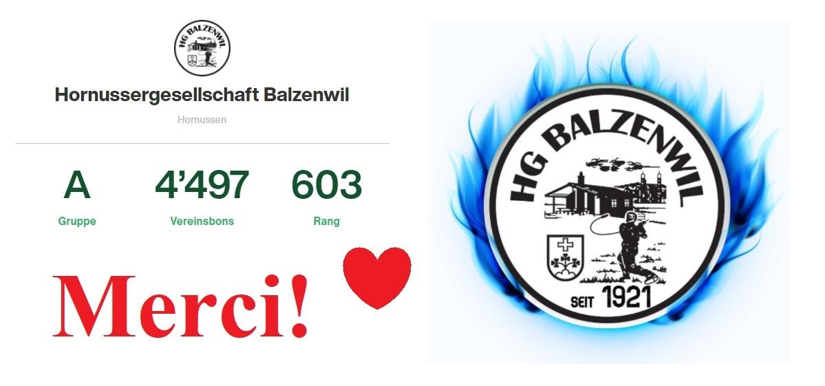 Danke für 4497 Bons!