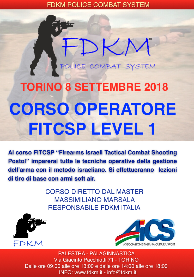 CORSO FITCSP TORINO 8 SETTEMBRE 2018