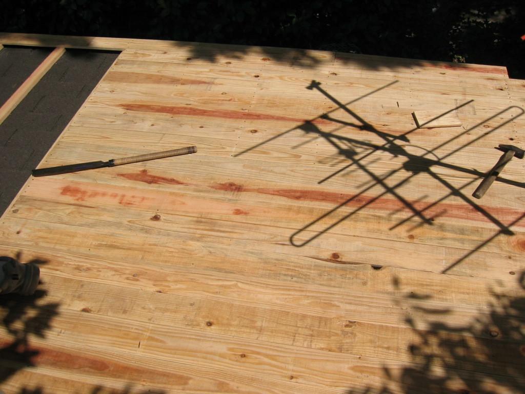 施工中 野地板施工