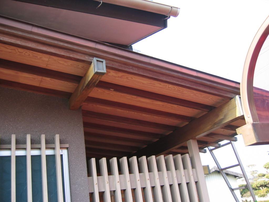 施工前 屋根天井化粧ベニア