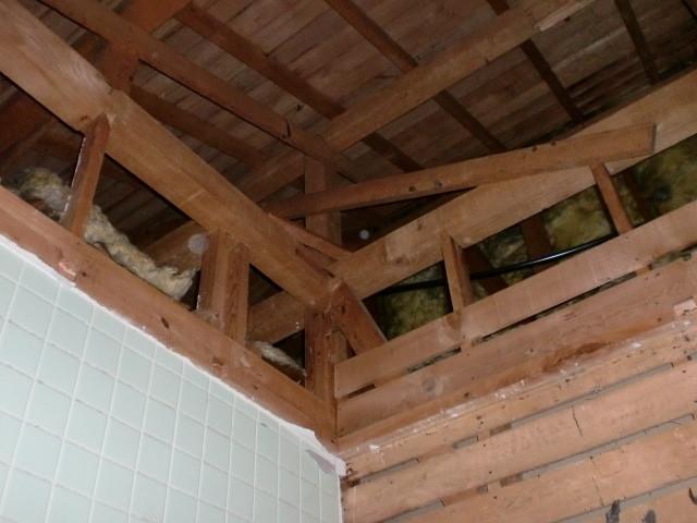 施工中 浴室天井 撤去