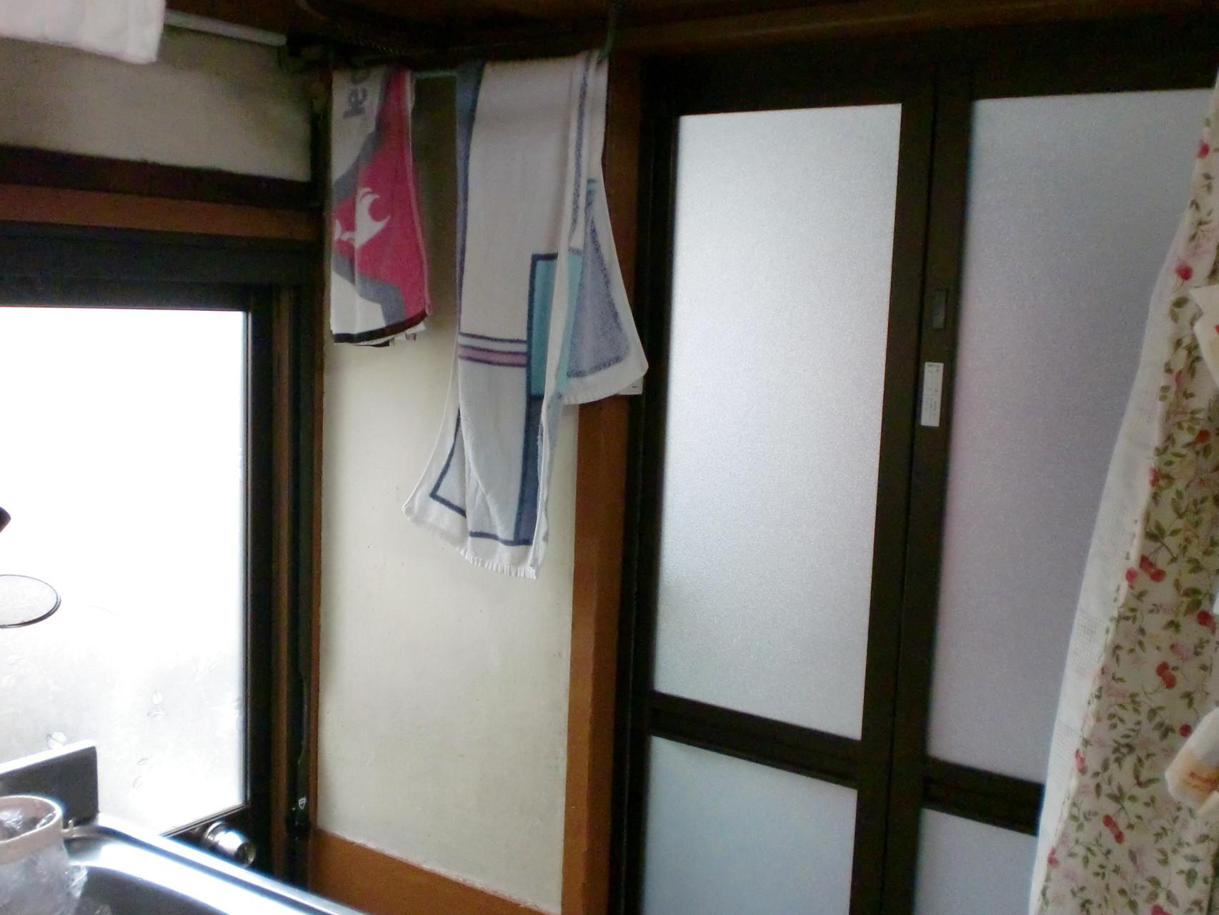 施工前 洗面脱衣室 入口