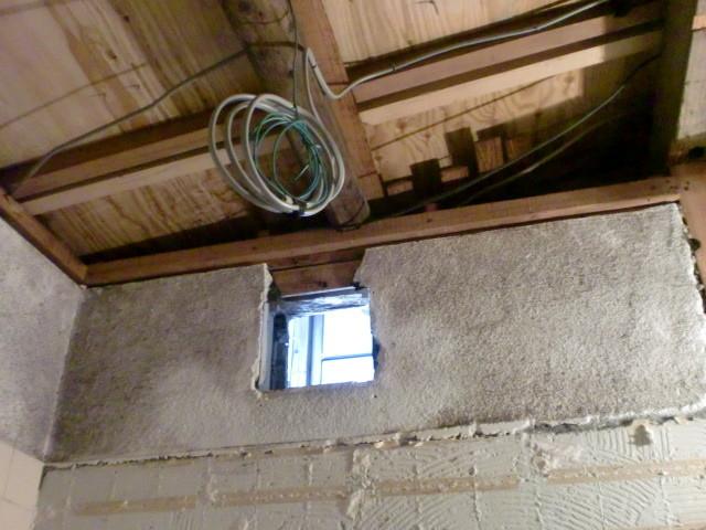 施工中 壁天井撤去