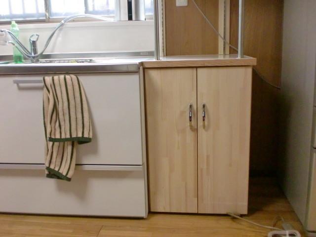 施工後 手作り収納ボックス 施工