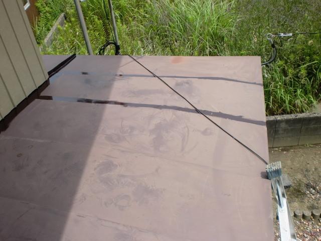 施工前 小庇 屋根
