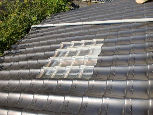 施工後 屋根ガラス瓦 施工 ①