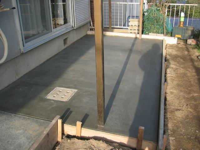 施工中 転圧後 土間コンクリート仕上①