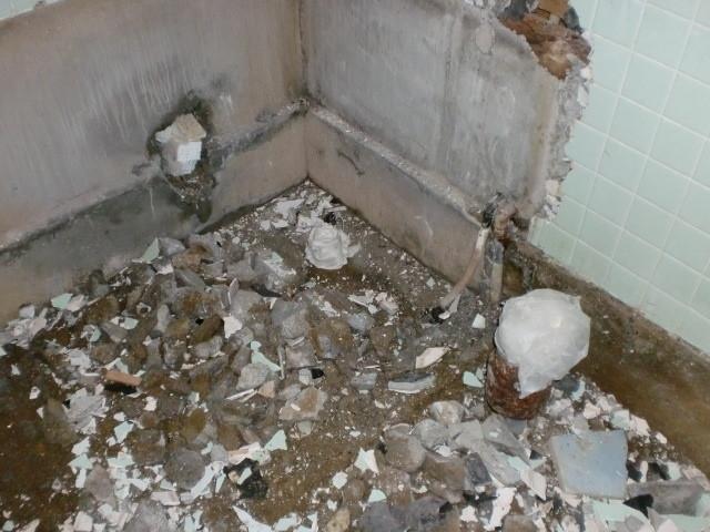 施工前 土間 浴槽 撤去