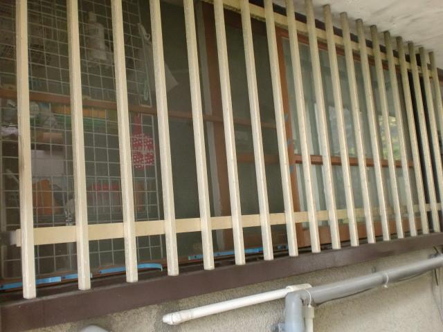 施工前 外部 窓 面格子