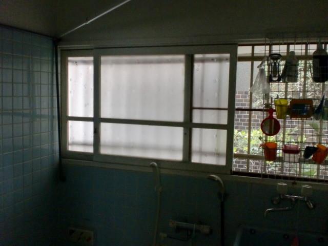 施工前 在来浴室 木製建具 窓
