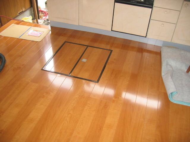 施工後 DK床貼り 床下収納庫