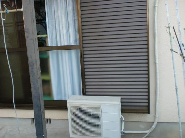 施工後 雨戸鏡板付戸袋 (三協立山アルミ)